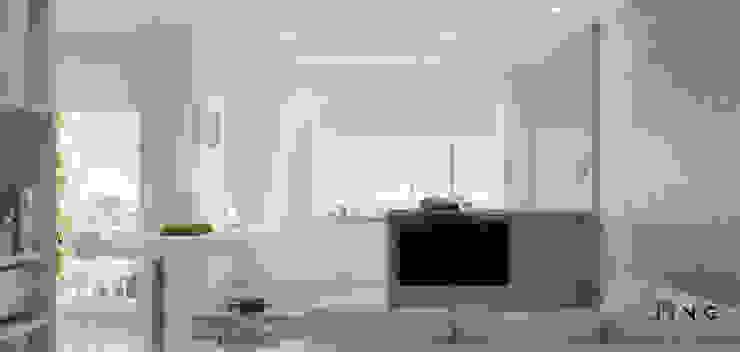 Kaohsiung 吳宅 现代客厅設計點子、靈感 & 圖片 根據 景寓空間設計 現代風