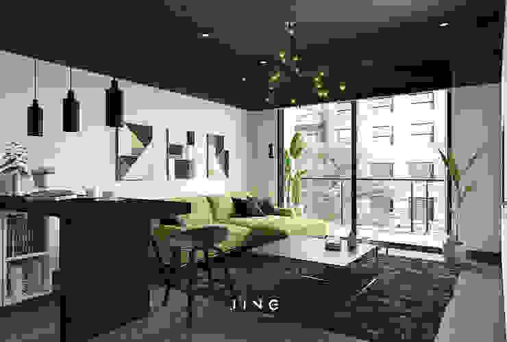Kaohsiung 陳宅 现代客厅設計點子、靈感 & 圖片 根據 景寓空間設計 現代風