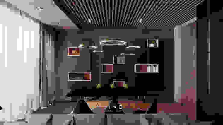 Modern dining room by 景寓空間設計 Modern