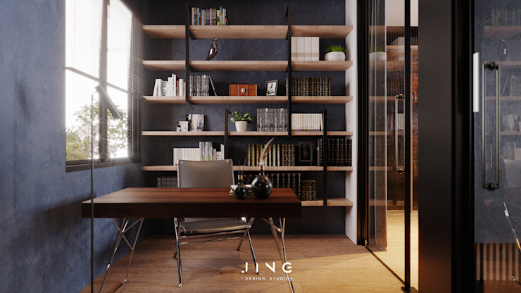 景寓空間設計 ห้องทำงาน/อ่านหนังสือ