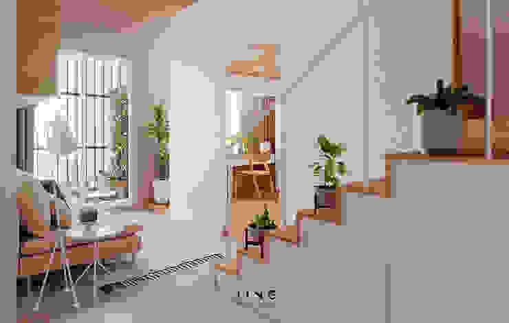 Projekty,  Salon zaprojektowane przez 景寓空間設計