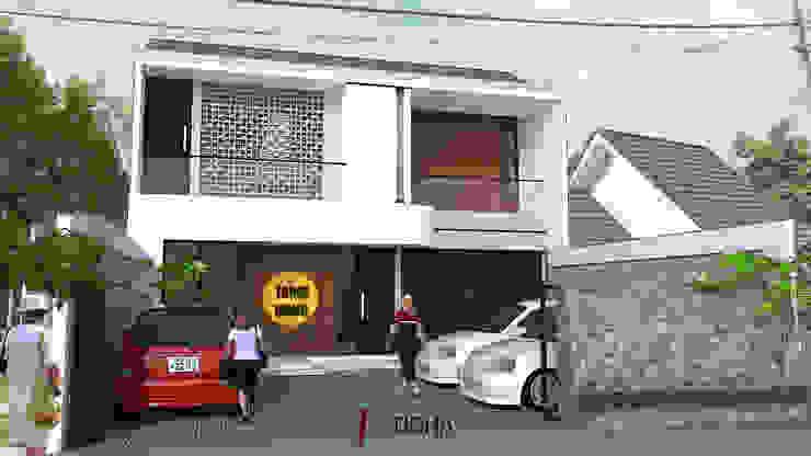 Eksterior TM Boarding House & Cafe Oleh Tigha Atelier