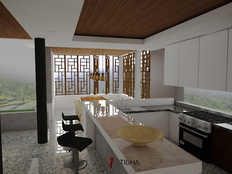 Dining Room & Kitchen:  oleh Tigha Atelier,