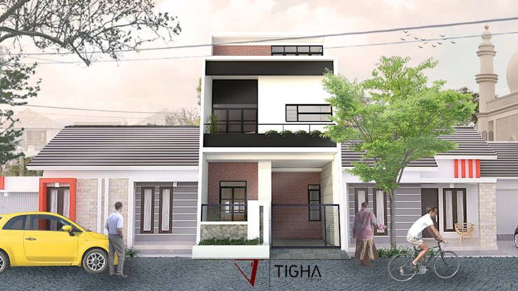 Eksterior 6.10 House:  oleh Tigha Atelier,