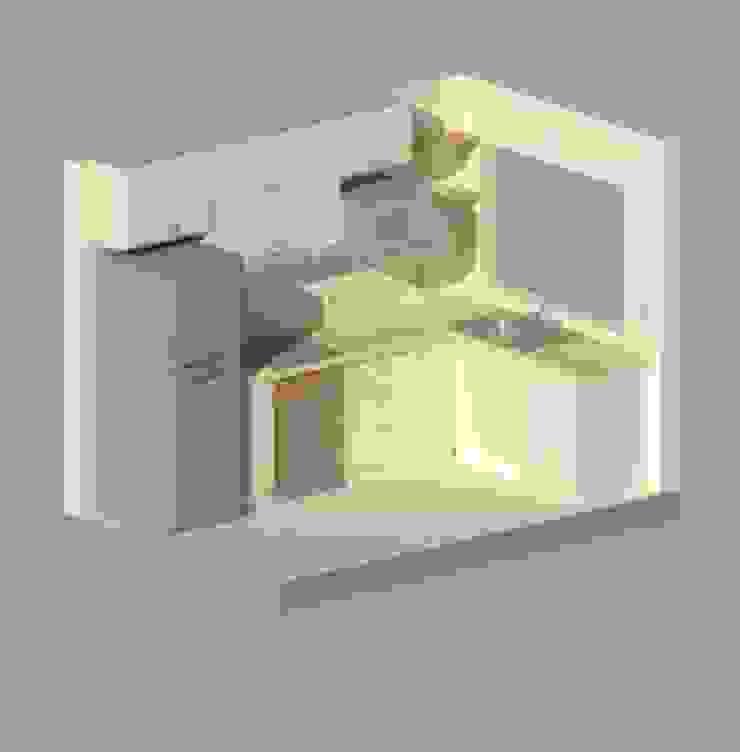 Maqueta 3D de Ponce Interiores Moderno Tablero DM