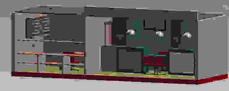 Maqueta Estudios y oficinas modernos de Ponce Interiores Moderno