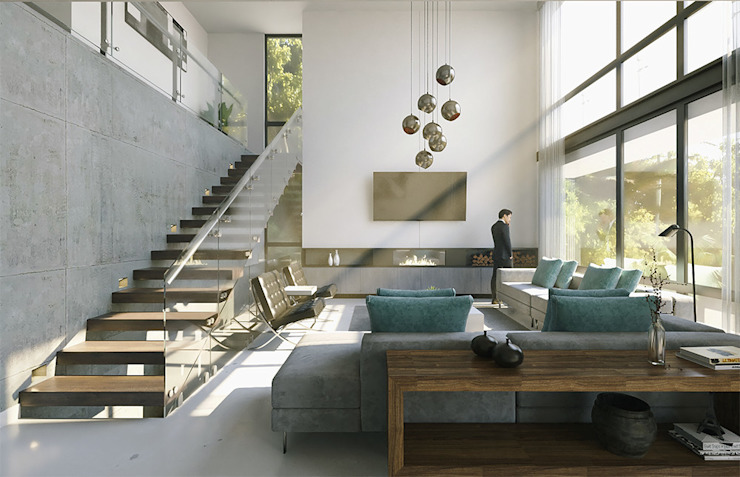 Proyecto Costa67 Salones minimalistas de CODIAN CONSTRUCTORA Minimalista