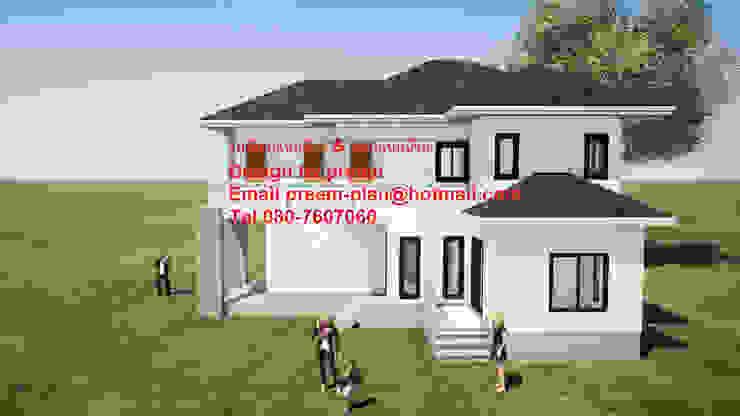 บ้านพักอาศัยคสล. 2 ชั้น โดย รับเขียนแบบบ้าน&ออกแบบบ้าน คลาสสิค