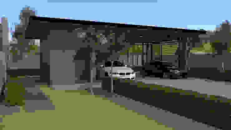 โรงจอดรถแบบจำลอง 3D บริษัท พี นัมเบอร์วัน ดีไซน์ แอนด์ คอนสตรัคชั่น จำกัด โรงจอดรถ