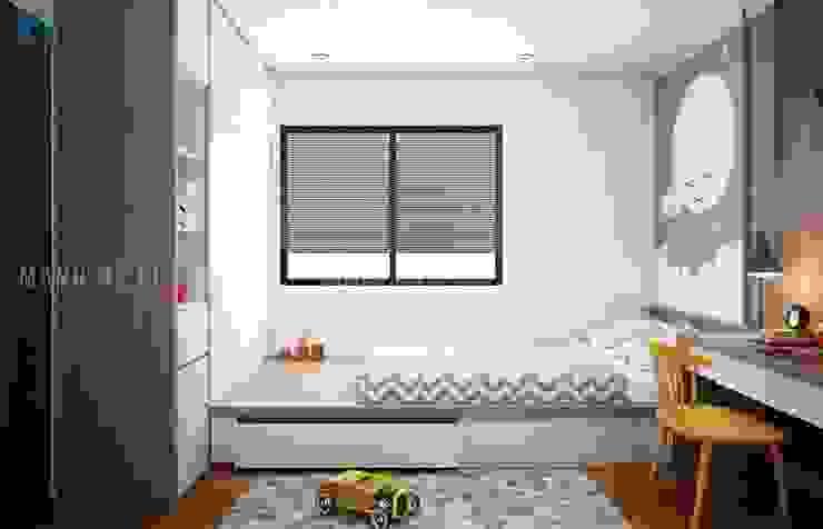 Phòng ngủ nhỏ cho bé với các vật dụng hiện đại:  Phòng ngủ nhỏ by Công ty TNHH Nội Thất Mạnh Hệ