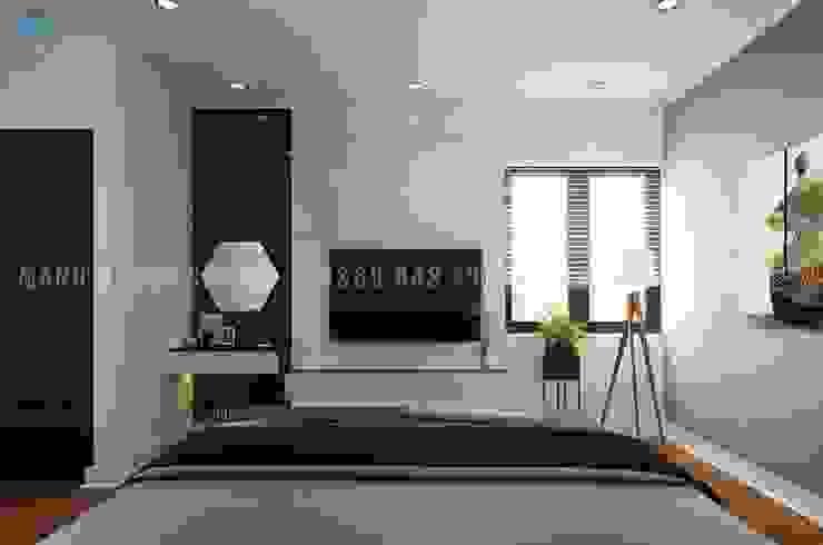 Nội thất phòng ngủ master Công ty TNHH Nội Thất Mạnh Hệ Phòng ngủ phong cách hiện đại White