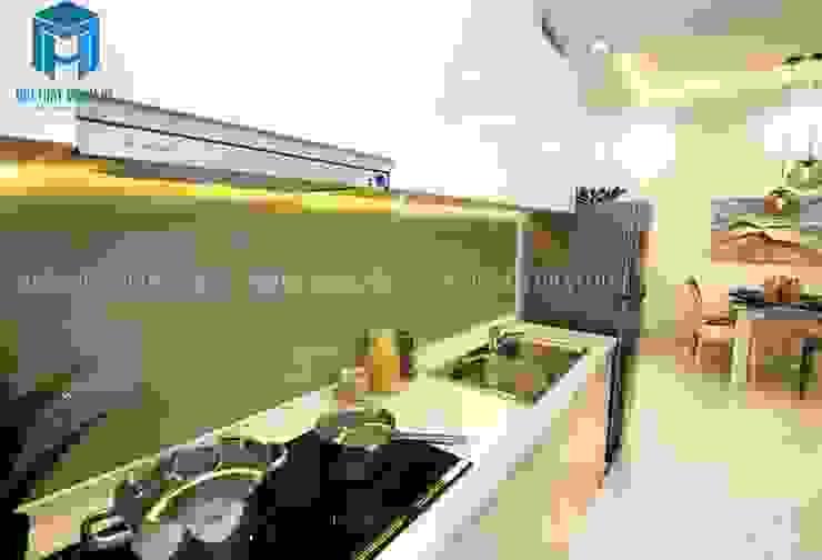 Không gian bếp nhỏ gọn nhưng đầy đủ tiện nghi Phòng ăn phong cách hiện đại bởi Công ty TNHH Nội Thất Mạnh Hệ Hiện đại