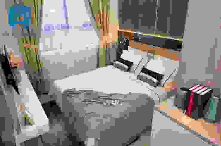 Phòng ngủ nhỏ khá đơn giản và tiện ích Phòng ngủ phong cách hiện đại bởi Công ty TNHH Nội Thất Mạnh Hệ Hiện đại
