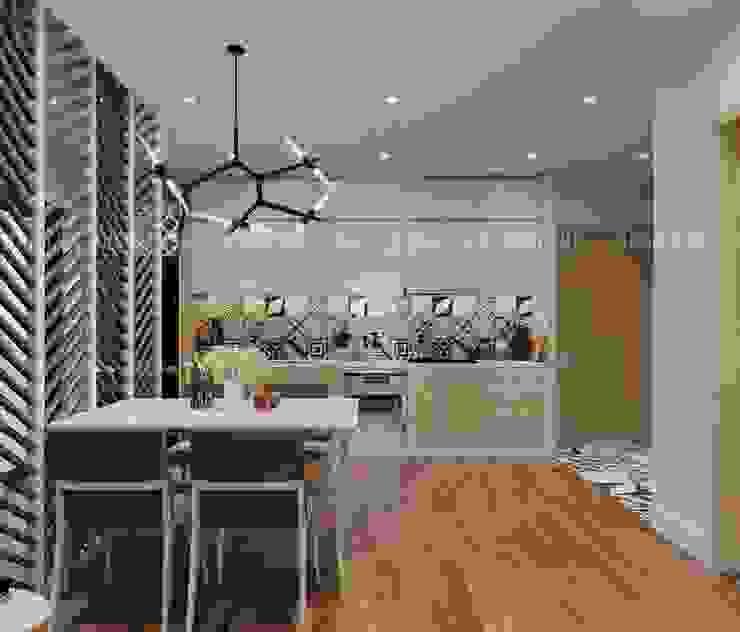 Nội thất phòng bếp khá hiện đại và sang trọng Phòng ăn phong cách hiện đại bởi Công ty TNHH Nội Thất Mạnh Hệ Hiện đại