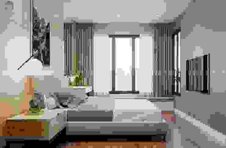 Nội thất phòng ngủ nhỏ bởi Công ty TNHH Nội Thất Mạnh Hệ Hiện đại