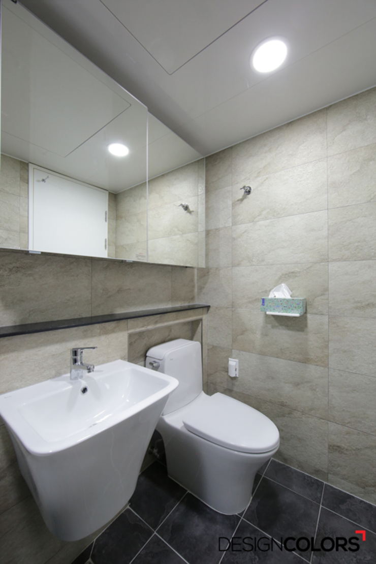 강남구 도곡동 경남 아파트인테리어 32평 모던스타일 욕실 by DESIGNCOLORS 모던