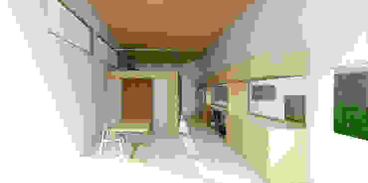 Salon moderne par 건축사사무소 모뉴멘타 Moderne Bois massif Multicolore
