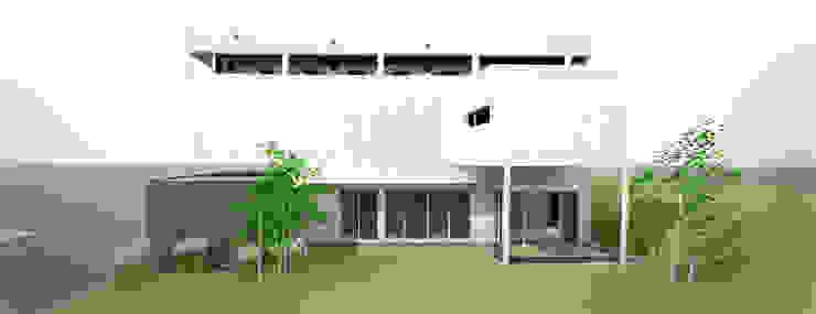 Maisons modernes par 건축사사무소 모뉴멘타 Moderne Bois massif Multicolore