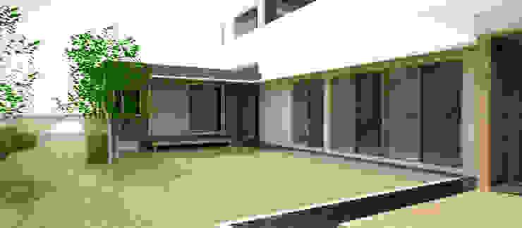 Jardin moderne par 건축사사무소 모뉴멘타 Moderne Bois Effet bois
