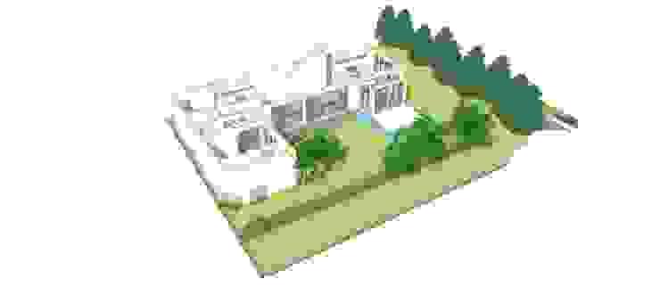 Maisons modernes par 건축사사무소 모뉴멘타 Moderne Bois Effet bois