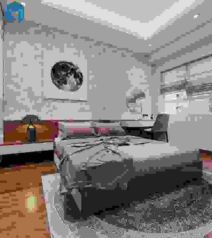 Phòng ngủ master khá rộng rãi Phòng ngủ phong cách hiện đại bởi Công ty TNHH Nội Thất Mạnh Hệ Hiện đại