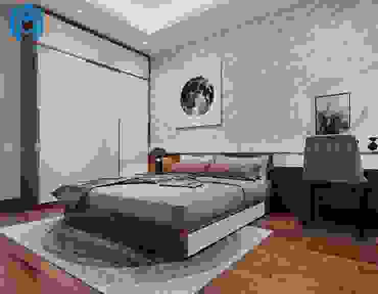 Nội thất phòng ngủ master đầy hiện đại và cá tính Phòng ngủ phong cách hiện đại bởi Công ty TNHH Nội Thất Mạnh Hệ Hiện đại