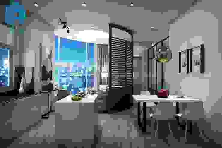 Nội thất căn hộ 54m2 hiện đại và sang trọng bởi Công ty TNHH Nội Thất Mạnh Hệ Hiện đại
