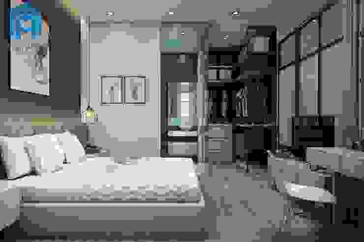 Trang trí phòng ngủ bằng khung tranh khá đẹp và tinh tế Phòng ngủ phong cách hiện đại bởi Công ty TNHH Nội Thất Mạnh Hệ Hiện đại