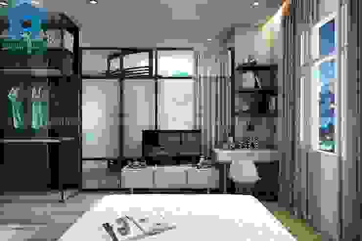 Nội thất phòng ngủ hiện đại và tinh tế Phòng ngủ phong cách hiện đại bởi Công ty TNHH Nội Thất Mạnh Hệ Hiện đại