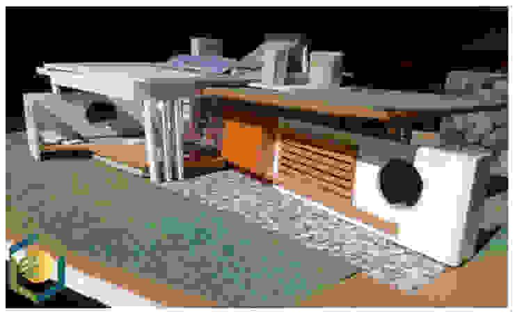 Casas de eco cero - Arquitectura sustentable en Talca Moderno Madera Acabado en madera