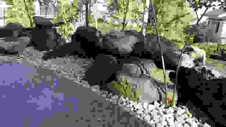 石積み完成 の 庭や煌久