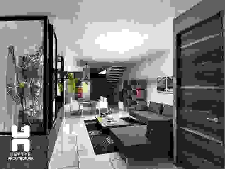 Sala - comedor Salones modernos de Heftye Arquitectura Moderno Concreto
