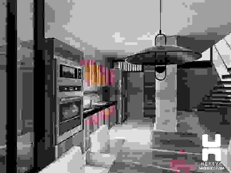 Proyecto de casa habitación diseñada en Mérida Comedores modernos de Heftye Arquitectura Moderno Concreto