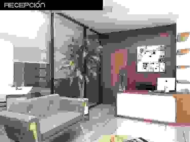 Proyecto de oficina Salones modernos de Heftye Arquitectura Moderno Concreto