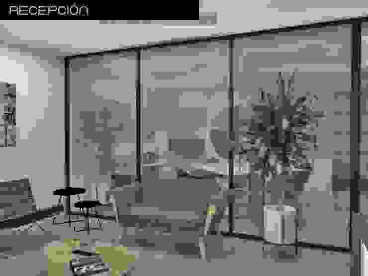 Proyecto de oficina Estudios y despachos modernos de Heftye Arquitectura Moderno Concreto