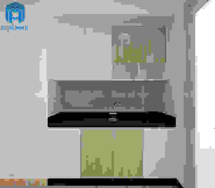 Tủ bếp thông minh được làm từ gỗ An Cường Phòng ăn phong cách hiện đại bởi Công ty TNHH Nội Thất Mạnh Hệ Hiện đại