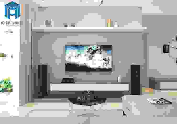 Tủ và kệ trang trí phòng khách bởi Công ty TNHH Nội Thất Mạnh Hệ Hiện đại