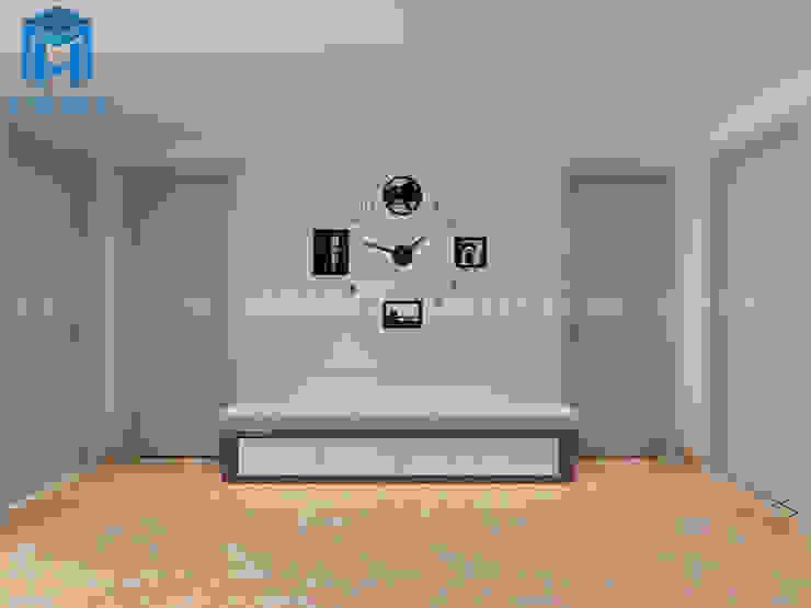Trang trí tường phòng khách với khung tranh ảnh bởi Công ty TNHH Nội Thất Mạnh Hệ Hiện đại