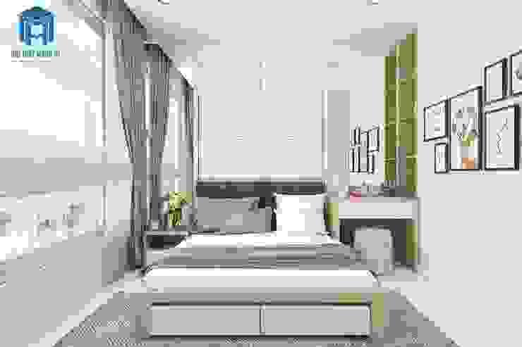 Thiết kế nội thất phòng ngủ ưu tiên ánh sáng tự nhiên, tốt cho sức khỏe Phòng ngủ phong cách hiện đại bởi Công ty TNHH Nội Thất Mạnh Hệ Hiện đại