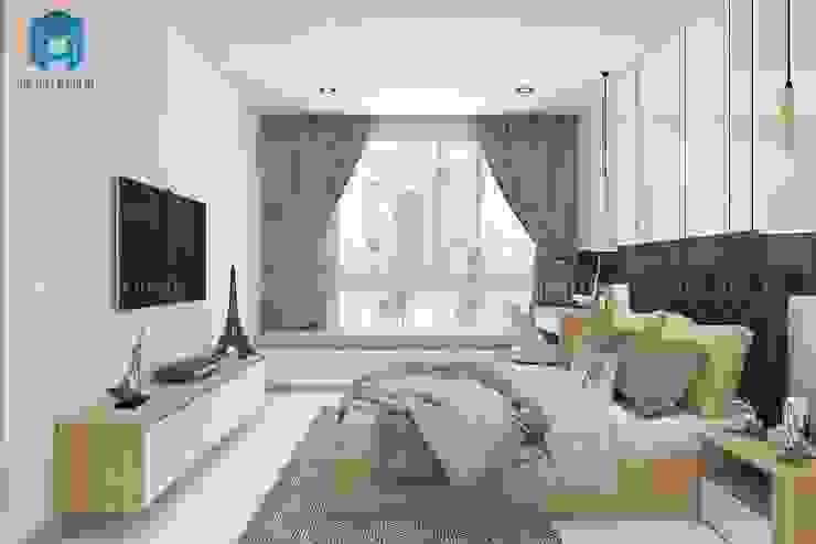 Cửa sổ phòng nhìn ra view toàn cảnh thành phố khá đẹp Phòng ngủ phong cách hiện đại bởi Công ty TNHH Nội Thất Mạnh Hệ Hiện đại