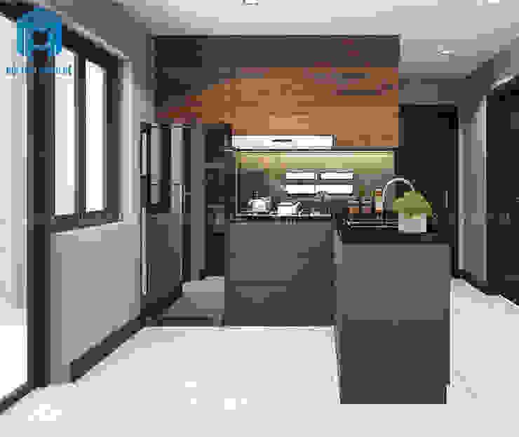 Không gian phòng bếp hiện đại và ấm cúng Phòng ăn phong cách hiện đại bởi Công ty TNHH Nội Thất Mạnh Hệ Hiện đại