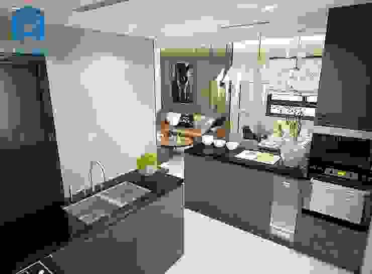 Hệ thống tủ bếp hiện đại và sang trọng Phòng ăn phong cách hiện đại bởi Công ty TNHH Nội Thất Mạnh Hệ Hiện đại