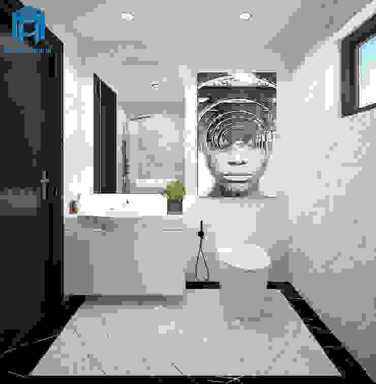 Trang trí tường nhà tắm rất nghệ thuật Phòng tắm phong cách hiện đại bởi Công ty TNHH Nội Thất Mạnh Hệ Hiện đại