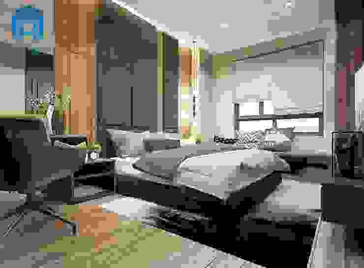 Nội thất phòng ngủ với gam màu trầm ấm Phòng ngủ phong cách hiện đại bởi Công ty TNHH Nội Thất Mạnh Hệ Hiện đại