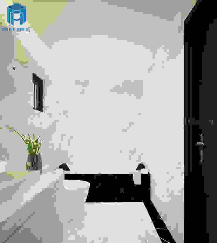 Nhà tắm đơn giản nhưng vẫn mang lại cho gia chủ cảm giác sang trọng Phòng tắm phong cách hiện đại bởi Công ty TNHH Nội Thất Mạnh Hệ Hiện đại