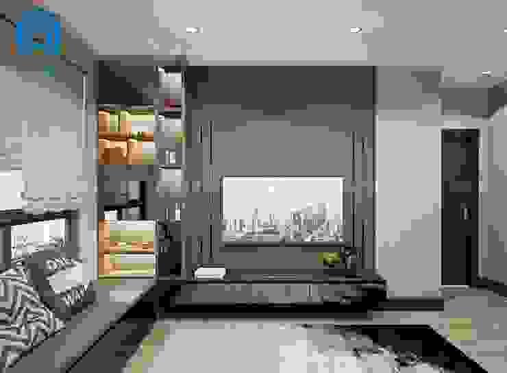 Phòng ngủ được trang trí bằng tranh treo tường Phòng ngủ phong cách hiện đại bởi Công ty TNHH Nội Thất Mạnh Hệ Hiện đại