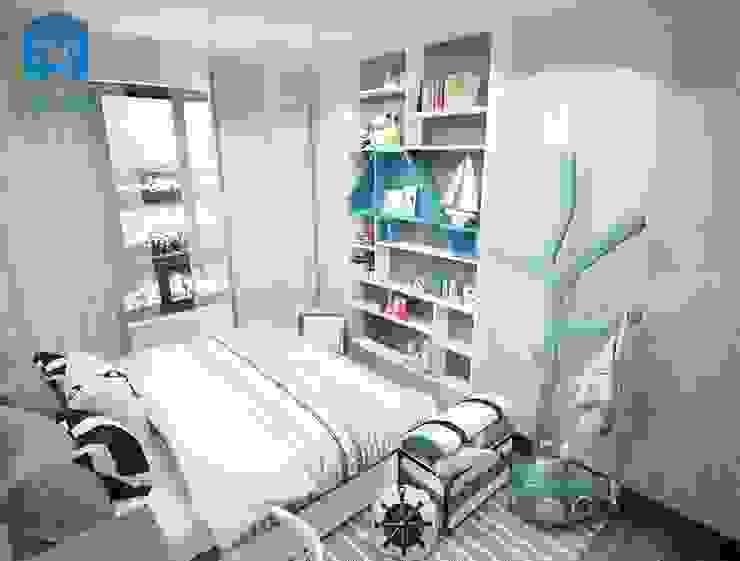 Phòng ngủ dành cho các bé được bố trí các vật dụng một cách năng động Phòng ngủ phong cách hiện đại bởi Công ty TNHH Nội Thất Mạnh Hệ Hiện đại