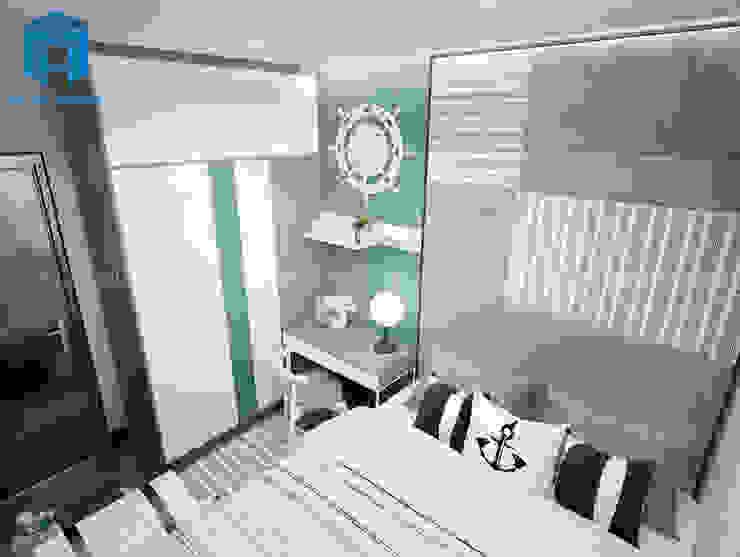 Nội thất phòng ngủ màu trắng sáng Phòng ngủ phong cách hiện đại bởi Công ty TNHH Nội Thất Mạnh Hệ Hiện đại