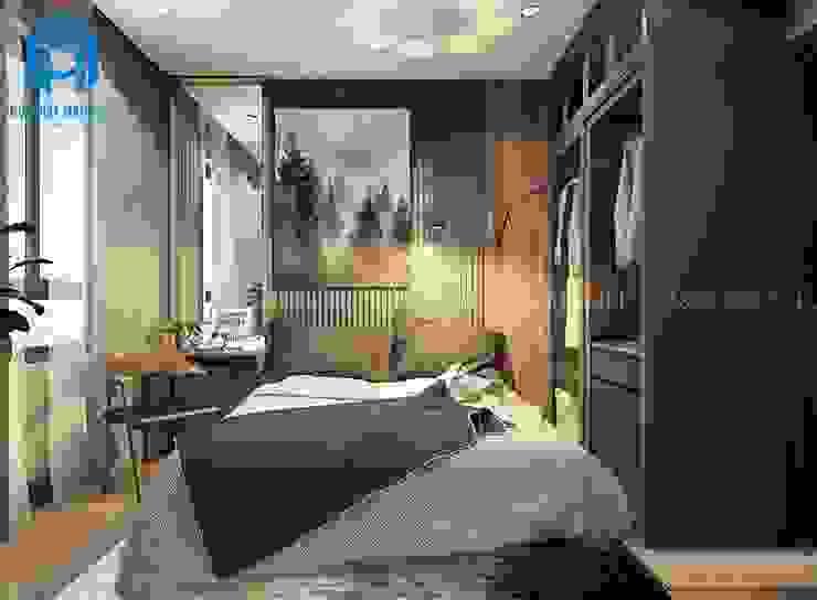 Tranh trang trí phòng ngủ mang lại nét đẹp tinh tế cho căn phòng Phòng ngủ phong cách hiện đại bởi Công ty TNHH Nội Thất Mạnh Hệ Hiện đại