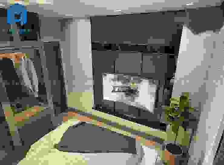 Phòng ngủ được trang trí theo phong cách hiện đại mang đến cho gia chủ cảm giác ấm áp và đẳng cấp Phòng ngủ phong cách hiện đại bởi Công ty TNHH Nội Thất Mạnh Hệ Hiện đại